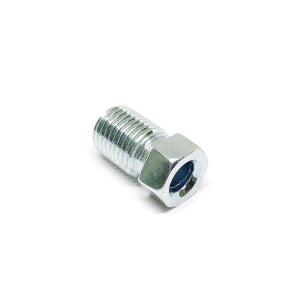 Штуцер тормозной трубки дюймовый М3/8 х 18 х 24 (диаметр 3/8 дюйма, высота 18 мм, шаг резьбы 24 витка на 1 дюйм)