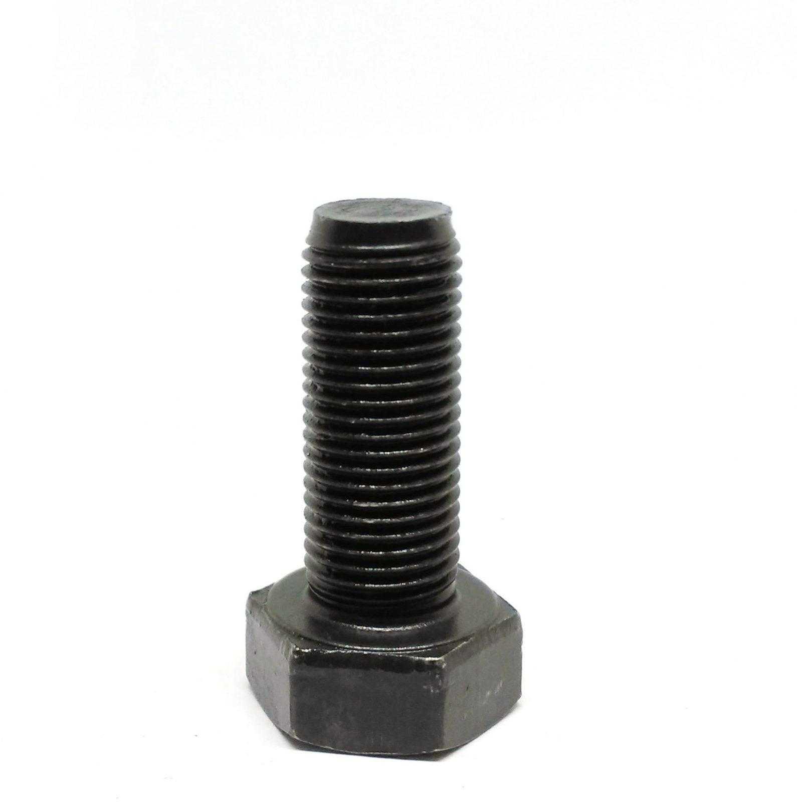Болт с полной резьбой M12 x 30 x 1.25 - 10.9 чёрный