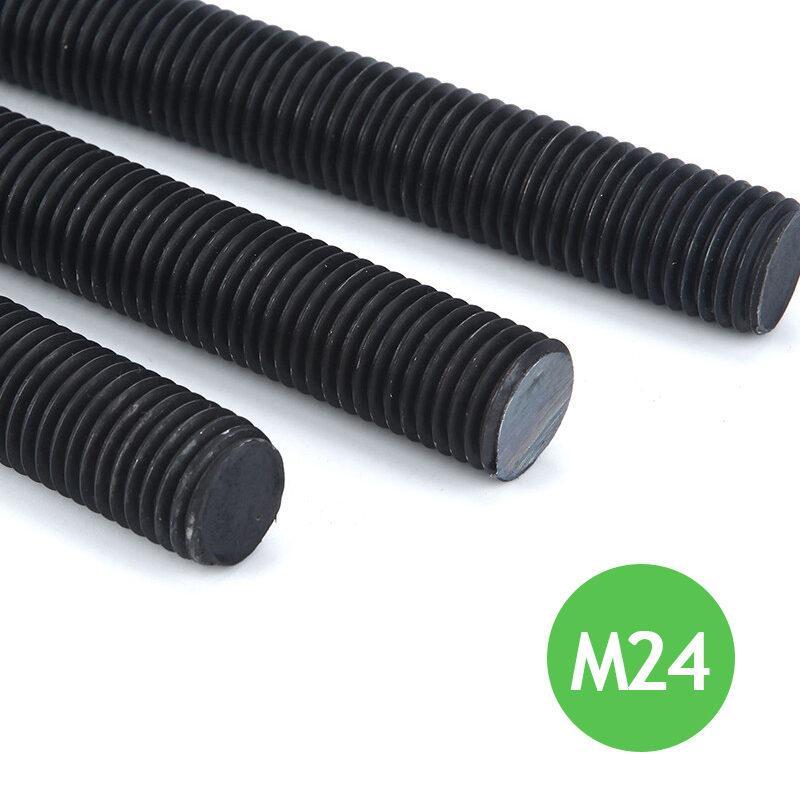 Шпилька резьбовая М24 х 1000 х 3 - 12.9 черная высокопрочная