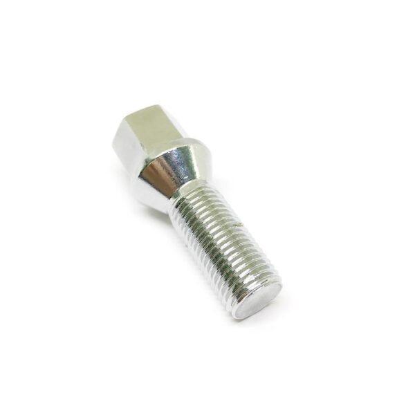 Болт колесный конусный М14 х 1.5 х 25 ключ 17 хромированный