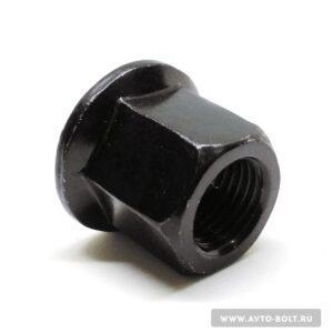 60 3 300x300 - Гайка с фланцем М12 x 1.25 высокая чёрная